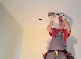 Установка датчика движения на потолке