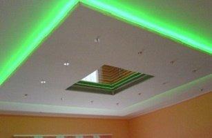 Монтаж светодиодной ленты в потолке